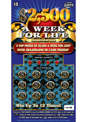 $2500 A WEEK FOR LIFE Scratch-Off Ticket