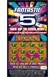 Fantastic 5s Scratch-Off Ticket