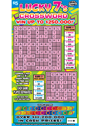 1344-Lucky 7s Scratch-Off Ticket