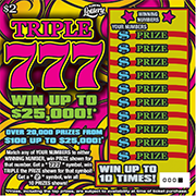 1347-Triple 777 Scratch-Off Ticket